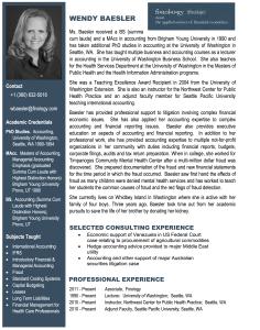 Wendy Baesler - Bio | Finology | Business, Economic Consulting & Strategic Analysis