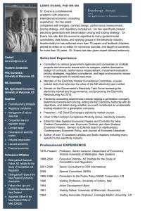 Lewis Evans - Bio | Finology | Business, Economic Consulting & Strategic Analysis