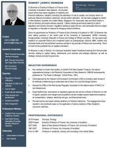 Robert (Jerry) Bowman - Bio   Finology   Business, Economic Consulting & Strategic Analysis
