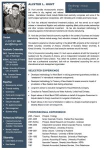 Alister Hunt - Bio | Finology | Business, Economic Consulting & Strategic Analysis