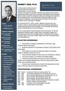 Ramsey Zein - Bio   Finology   Business, Economic Consulting & Strategic Analysis
