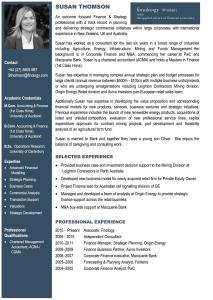 Susan Thomson - Bio   Finology   Business, Economic Consulting & Strategic Analysis